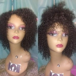 """8"""" Jerry Curly Human Blend Hair Wig"""
